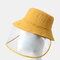 COLLROWN Adjustable Sun Hat With Large Eaves Anti-fog Removable Sun Visor - Yellow