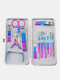 7/10/12/15 Pcs Stainless Steel Nail Clippers Set Portable Travel Exfoliating Manicure Pedicure Grooming Set - 12 Pcs