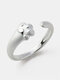 Creative Cat Claw Women Ring Adjustable Open Index Little Finger Tail Ring - Silver