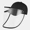 COLLROWN Transparent Detachable Sun Visor Anti-fog Cap - Black