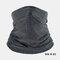 Ice Silk Sunscreen Turban Triangle Scarf Breathable Sunscreen Riding Mask - Dark Gray