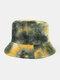 Women & Men Corduroy Multicolor Tie Dye Casual Soft Outdoor All-match Bucket Hat - #01