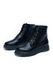 Women Casual Brief Side-zip Solid Color Thick Bottom Shoes Non-slip Soft ToolingBoots - Black