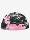 Men & Women Contrast Color Pattern Casual Beanie Landlord Cap Skull Cap - Black