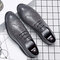 Large Size Men Brogue Lace Up Casual Oxfords Business Formal Shoes