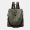 Women Anti theft Multifunction Waterproof Casual Patchwork Backpack - Green