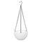 樹脂吊りフラワーポットガーデニングプラントポットフックガーデンプランターバスケットバルコニーの装飾 - 白い