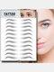 3D Eyebrow Tattoo Sticker Long Lasting Waterproof False Eyebrows Cosmetics - 10 Black