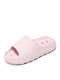 Plus Size Women Comfy Home Solid Color Non Slip Bathroom Slippers - Pink