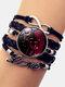 Vintage Twelve Constellation Women Bracelet LOVE Letter Multilayer Bracelet - Virgo