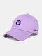 Unisex Cotton Embroidery Animal Pattern Summer Casual Sunshade Fashion Baseball Hat - Purple
