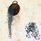 緑の植物花つるDecoratiプラスチック花植物ハンギングバスケット花装飾壁掛け - 紫