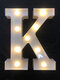 LED English Letter And Symbol Pattern Night Light Home Room Proposal Decor Creative Modeling Lights For Bedroom Birthday Party - #11