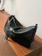 महिला चेन क्रॉसबॉडी बैग कंधे बैग - काली