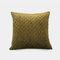 Pure Color Plush Geometric Pineapple Grid Sofa Pillow Living Room Bedside Pillowcase - Green