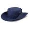 メンズレディースシルクバイザーバケットハットフィッシャーマンハットアジャスタブルチンストラップ折りたたみ帽子 - ネービー