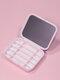 Biologisch abbaubares Silikon-Wattestäbchen mit wiederverwendbarem Spiegel-Ohrreinigungs-Make-up-Wattestäbchen - Hell-Pink