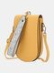 Casual Flower Print Pattern Wrist Band Stitch Detail Multi-slots Flap Magnetic Button 6.8 Inch Phone Bag Clutch Bag - Yellow