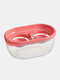 Kitchen Double Grid Egg Separator Eco Friendly Egg Yolk Divider Tools Kichen Accessories Tools Cooking - Red
