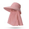 Cappello da donna con protezione solare estiva in tinta unita Cappello da muschio per esterno Cappello rimovibile casual - #04