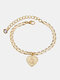 Luxury 26 English Letters Women Anklet Wild Heart Pendant Anklet Jewelry Gift - G