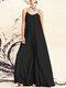 Mode Spaghetti-Trägern Volltonfarbe Plus Größe Maxi Kleid
