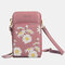 Women Daisy Clutch Bag Card Bag Phone Bag Crossbody Bag - Pink