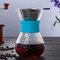 高温耐性ガラスコーヒーメーカーポットエスプレッソコーヒーマシン - ブルー2