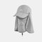 Sun Protection Foldable Cover Face Visor Outdoor Fishing Hat Summer Quick-drying Cap Breathable Hat Baseball Cap - Light Grey