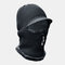 Men Wool One-piece Plus Velvet Thick Winter Keep Warm Neck Protection Windproof Zipper Knitted Hat - Grey