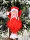 1Pc Christmas Decorations Angel Feather Pendant Plush Wings Sitting Pendant - #03