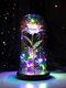 Cadeau de fête des mères coloré or Rose fleur couverture en verre cadeau de décoration de fleur éternelle lumineuse - #07