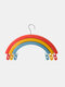 Clothes Rack Creative Rainbow Rotating Racks Multifunctional Three-layer Bed Sheet Drying Rack Clothes Hanger With Pants Clip - Rainbow