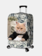 Women Cat Print Luggage Case Wear-resistant Travel Luggage Protective Cover - #03