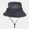 Fishing Hat Summer Outdoor Sun Protection Leisure Hiking Hat - Light Grey