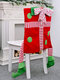 1Pc Christmas Chair Covers Santa Claus Hat Christmas Dinner Chair Back Covers Table Party Decor - #03