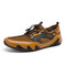 Men Octopus Sole Mesh Leathe Breathable Casual Shoes - Brown