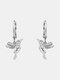Alloy Cute Micro-set Bird-shape Earrings For Women - Silver