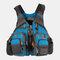 Men Polyester Fishing Vest Breathable Reflective Tactical Vest Multi-pocket Backpack - Sky Blue