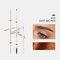 4 Farben Künstler Skizze Augenbrauenstiftcil Wasserdichter, schweißfester, natürlicher, langlebiger, superfeiner Augenbrauenstift - # 02