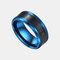 トレンディなスマート温度リングチタン鋼防水敏感温度ディスプレイカップルリング - 青い