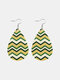 Easter Cute Colorful Bunny Print Leather Drop-shaped Earrings - 14