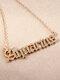 Elegant Letter Inlaid Diamond Women Necklace Twelve Constellation Pendant Necklace Jewelry Gift - Aquarius