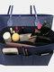 Women Multifunction Felt Cosmetic Bag Insert Organizer - Navy