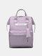 Casual Oxford Splashproof Large Capacity 14 Inch Handbag Backpack - Light Purple