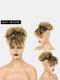 5 цветов Африка Маленькие вьющиеся короткие Парик Пушистая челка с взрывной головкой Волосы Сумка - #04