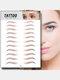 3D Eyebrow Tattoo Sticker Long Lasting Waterproof False Eyebrows Cosmetics - 10 Brown