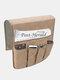 Anti-Rutsch-Sofa Stuhl Armlehne 5 Pocket Organizer Couch Fernbedienung Aufbewahrungstasche Magazin Kleinigkeiten Aufbewahrung Taschen - Khaki