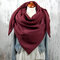 Women Solid Color Scarf Shawl Wrap Versatile Thick Warmth Shawl Scarf - Red