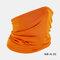Windproof Sunscreen Dust Mask Headgear Hat - Orange